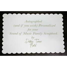 Autograph to accompany your Sound Of Music Family Scrapbook