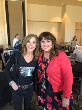 With Linda Blair