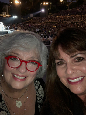 Angela Cartwright and me at the Hollywood Bowl 2019