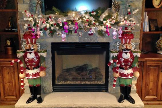 Whimsical Christmas Mantle