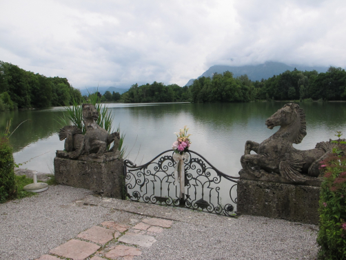 Lakeside at Leopoldskron, Salzburg, Austria