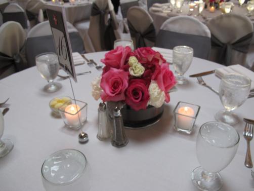 Pew Bouquet into Centerpiece
