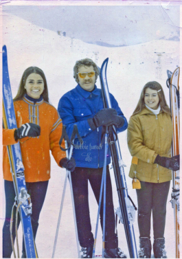 With Steve McQueen and my sister, Michele