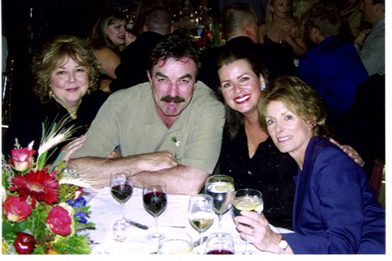 With Linda Bloodworth Thomason, Tom Selleck, me and Charmian