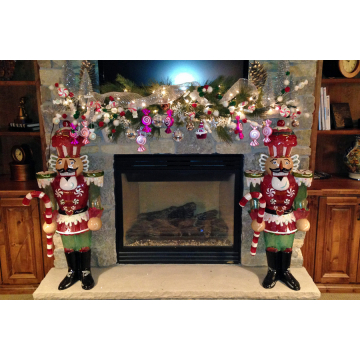 Whimsical Christmas Mantle