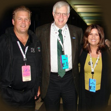 With Dennis Prager & my husband Rick
