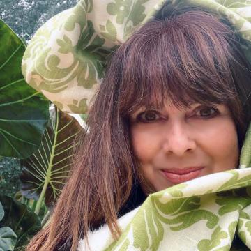 Debbie in curtain fabric