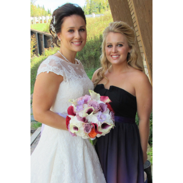 Beautiful Bride and her Sister