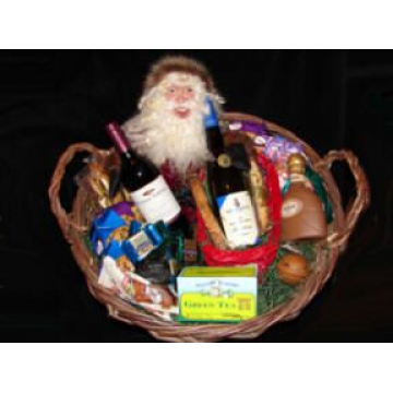 SANTA IN A BASKET