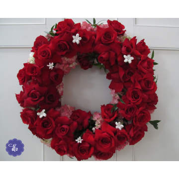 Fresh Red Roses Wreath