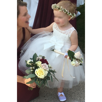 Flower Girl's Wand of Flowers  and Crown