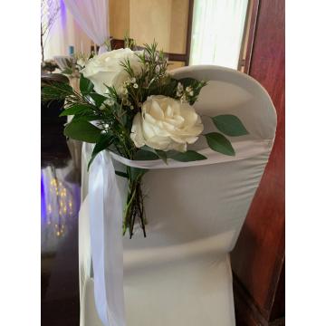 White tibet Roses Aisle Decoration